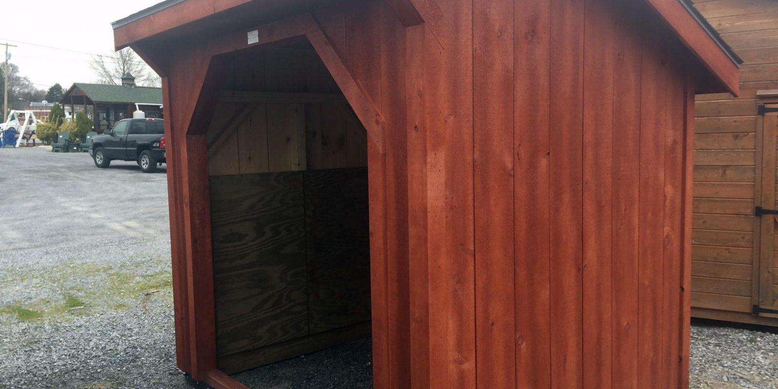 6x8 wood shed birch
